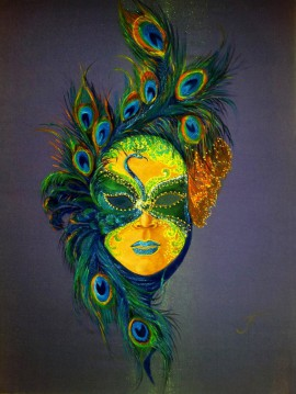 Mask - Peacock