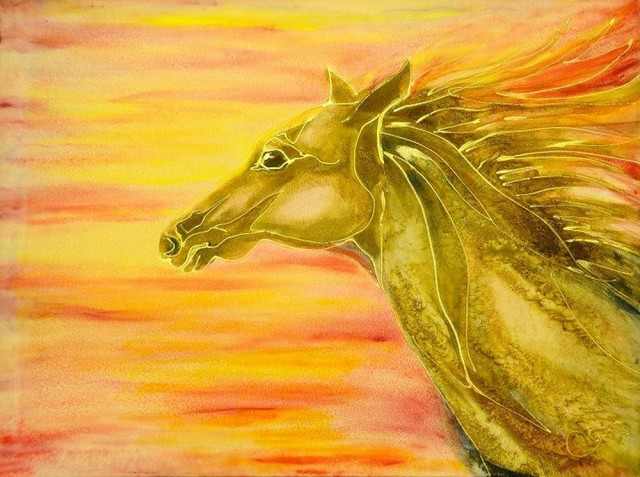 The Running Horse original painting by Irina Bespalova. Other technique