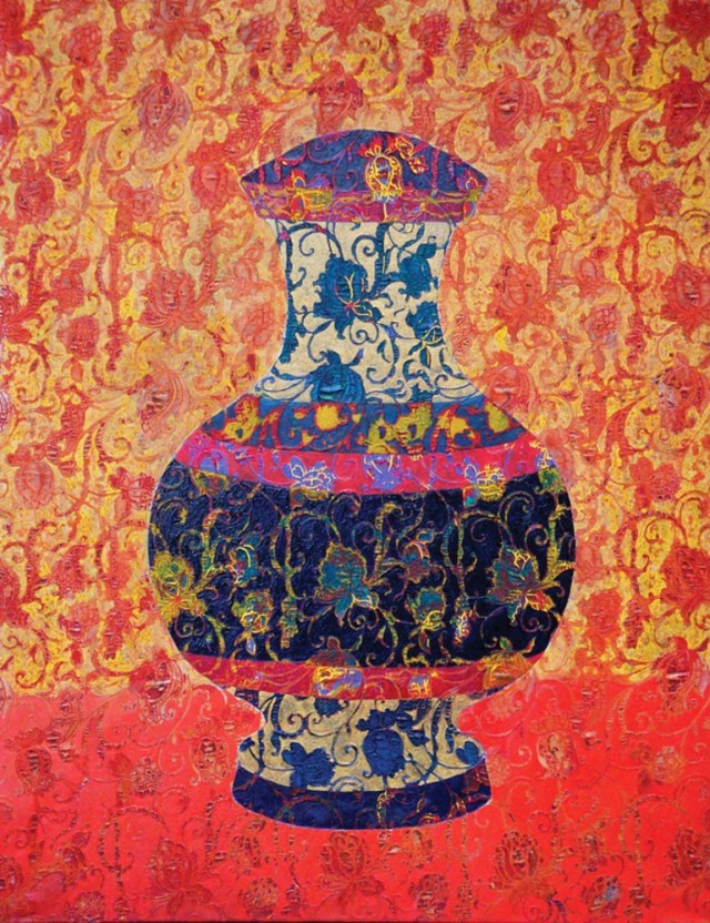 A Vase original painting by Džina Jasiūnienė. Curated Collections
