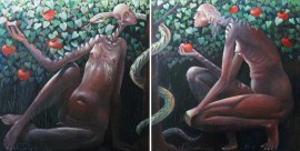 Eve and Adam (diptych)