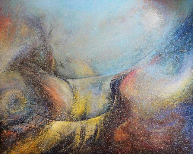 Going Through The Water, Fire And G / B Pipes original painting by Evaldas Šemetulskis. Acrylic painting