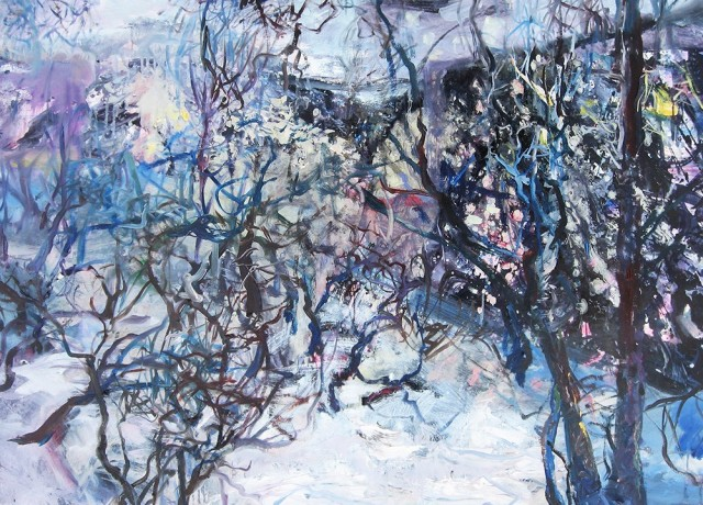Winter Evening original painting by Vilma Vasiliauskaitė. Oil painting