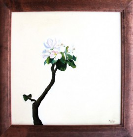 Little Apple Tree original painting by Onutė Juškienė. Oil painting