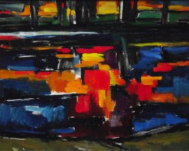Reflections In The River original painting by Albinas Markevičius. Oil painting