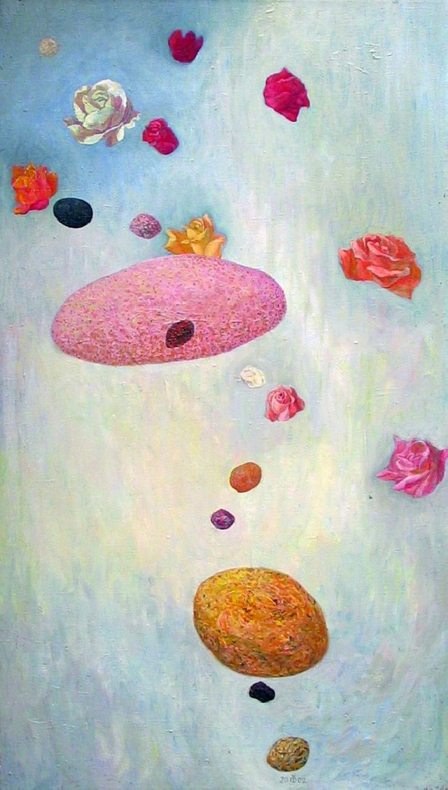 Meditation On Little Stones 2 original painting by Dalia Čistovaitė. Oil painting