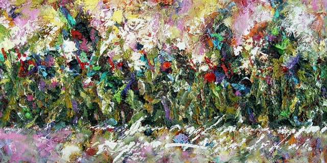 The Landscape Word original painting by Konstantinas Žardalevičius. Oil painting