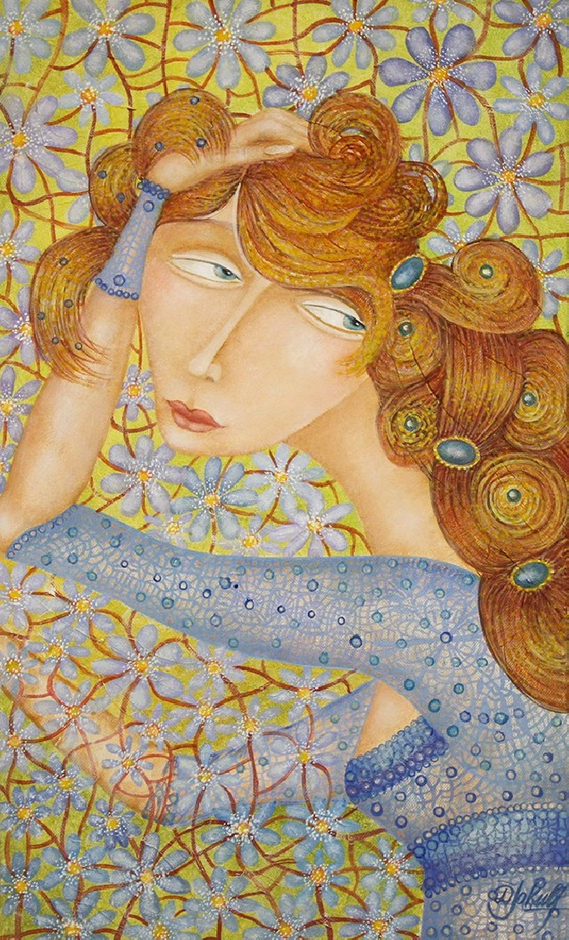 The Dreamer original painting by Danguolė Jokubaitienė. Oil painting