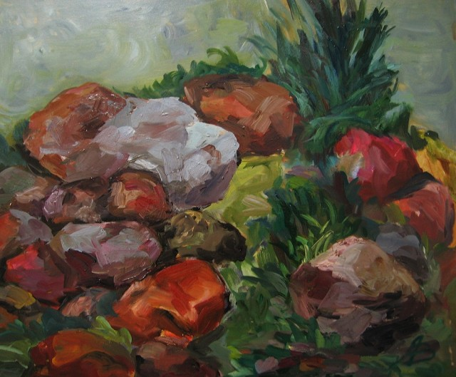 Symphony Of Stones original painting by Birutė Ašmonienė. Oil painting