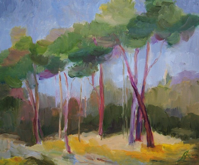Pines Of Seaside original painting by Birutė Ašmonienė. Oil painting
