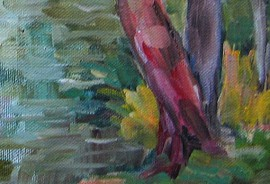 Near The Pond original painting by Birutė Ašmonienė. Oil painting