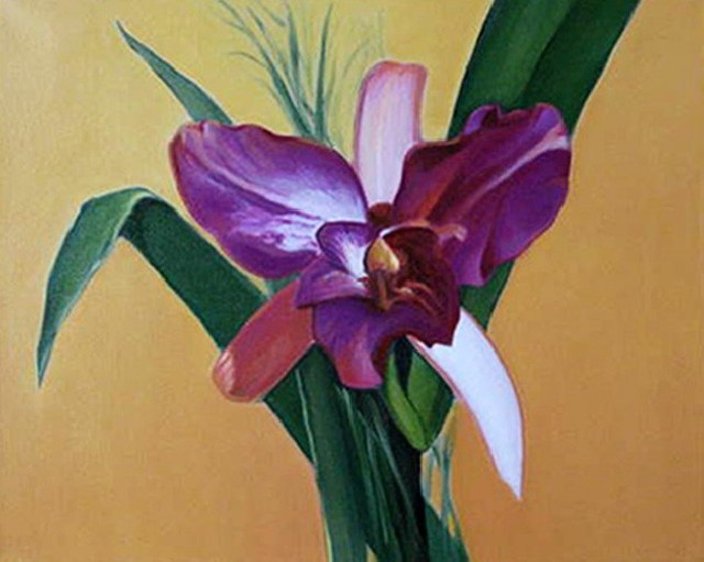 Orchid 3 original painting by Daiva Kunigėnienė. Oil painting