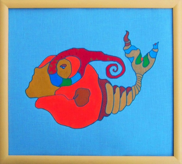 Fish original painting by Rimtautas Špokas. Other technique