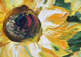Summer In A Vase original painting by Erika Ruginienė. Oil painting