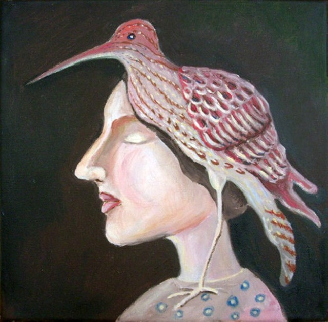Bird original painting by Rima Svirskienė. Other technique