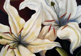 Lillies original painting by Arnoldas Švenčionis. Oil painting