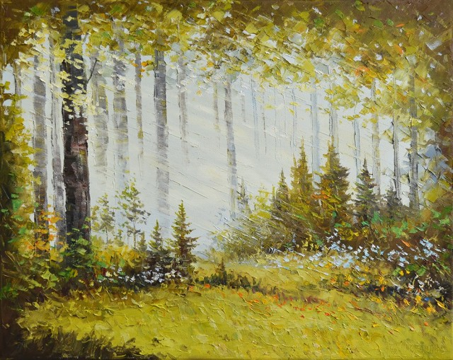 Outskirt Of The Forest original painting by Rimantas Virbickas. Oil painting
