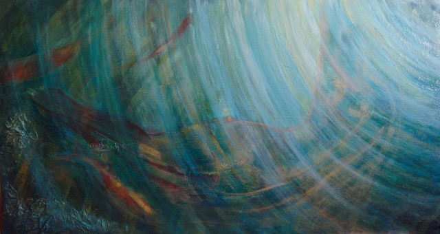 In Water original painting by Saulė Želnytė. Other technique