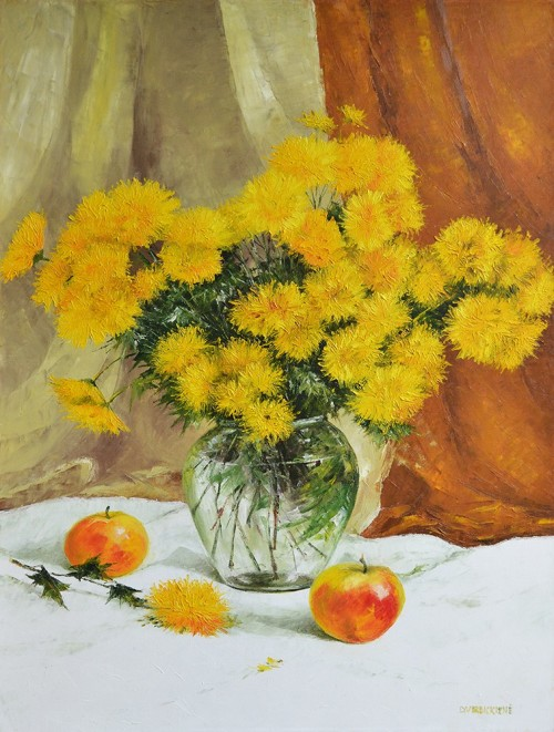 The Lovely Still Life original painting by Danutė Virbickienė. Oil painting