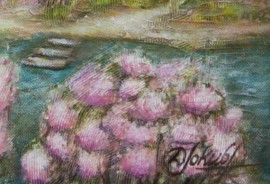 Blooming Coast original painting by Danguolė Jokubaitienė. Oil painting