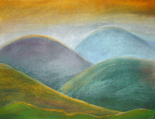 The Horizons original painting by Gražina Luckutė-Bukienė. Pastel