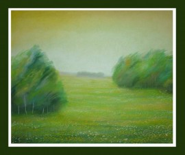 From The Cycle - Meadow original painting by Gražina Luckutė-Bukienė. Pastel