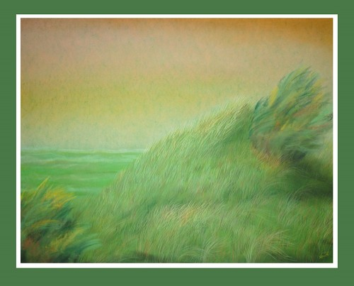 The Hill original painting by Gražina Luckutė-Bukienė. Pastel