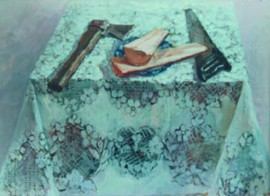 Tablecloth And Saw