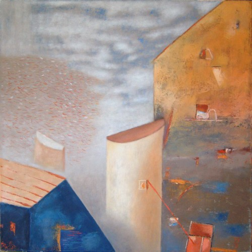 Forms of Architecture original painting by Kęstutis Jauniškis. Oil painting
