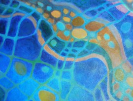 Energy Of Water original painting by Natalija Kriščiūnienė. Acrylic painting