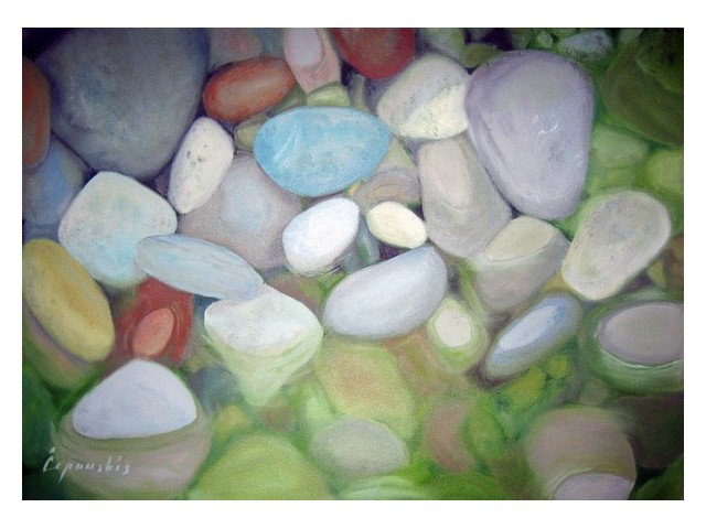 Stones original painting by Mantas Čepauskis. Oil painting