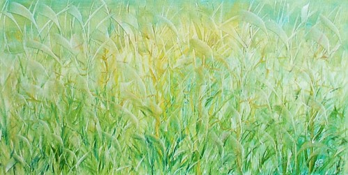 Green original painting by Lidija Dailidėnienė. Oil painting