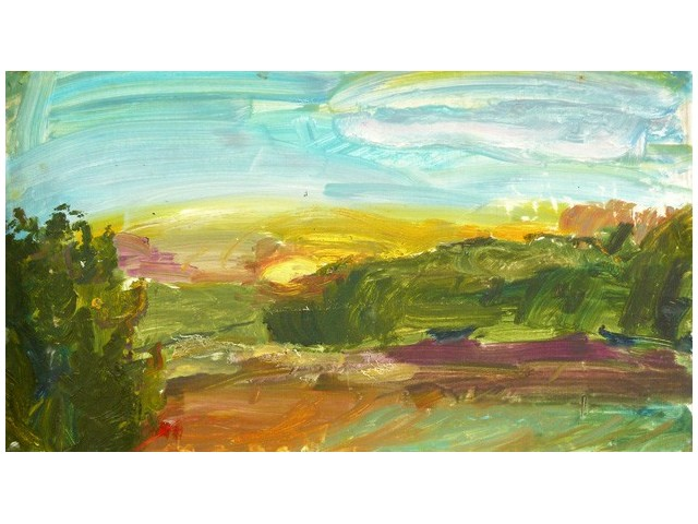 Sunrise original painting by Indrė Stackutė. Oil painting
