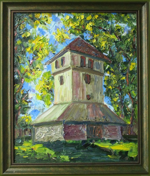 Bell original painting by Liudvikas Daugirdas. Oil painting