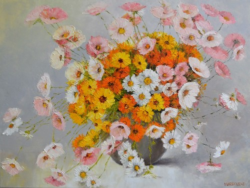 Beautiful Bouquet original painting by Danutė Virbickienė. Oil painting