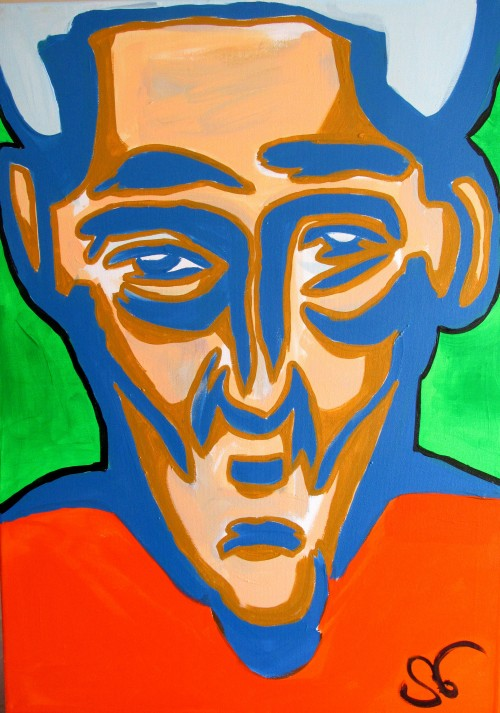 Faces Expression I original painting by Saulius Ginetas. Acrylic painting