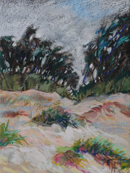 In The Dunes original painting by Filomena Linčiūtė-Vaitiekūnienė. Oil painting