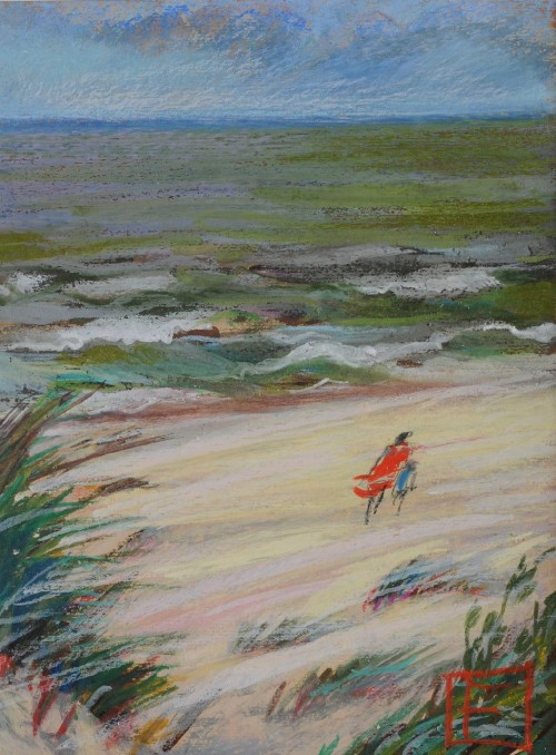 Windy original painting by Filomena Linčiūtė-Vaitiekūnienė. Oil painting