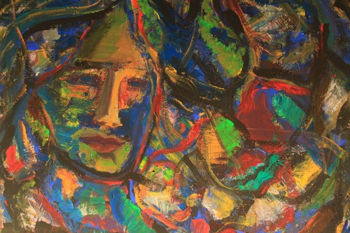 Colourful Promises original painting by Kristina Čivilytė. Acrylic painting