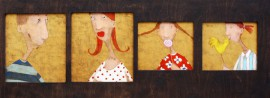 Family original painting by Rolana Čečkauskaitė. Other technique