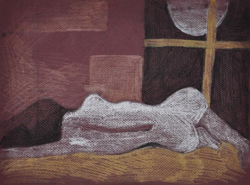 Does Full Moon Work For Sleep? original painting by Inga Balčiūnienė. Pastel