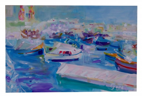 In Malta I original painting by Jonas Grunda. Acrylic painting