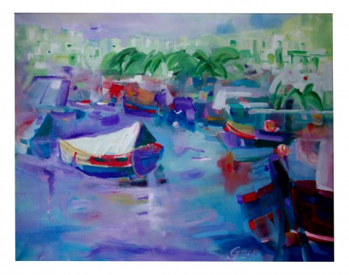 In Malta II original painting by Jonas Grunda. Acrylic painting