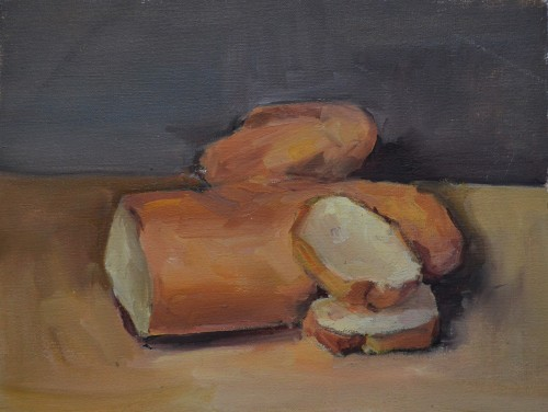 Tasty Still LIfe original painting by Karolina Latvytė. Oil painting