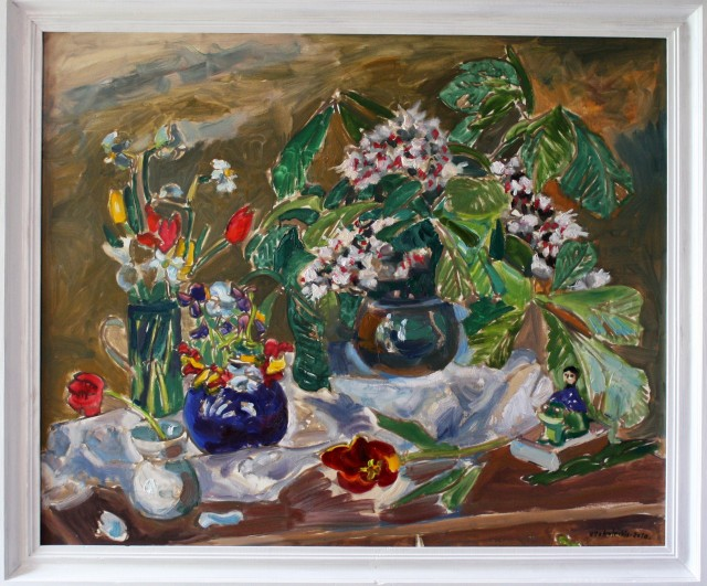 Spring Still Life original painting by Viačeslavas Sokoleckis. Oil painting