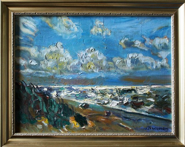 Sea At Day original painting by Viačeslavas Sokoleckis. Oil painting