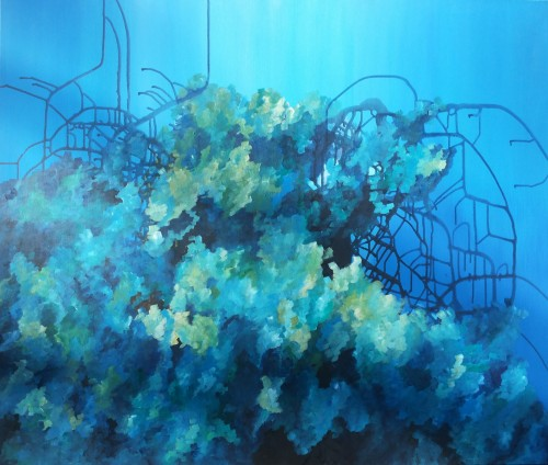 Underwater World II original painting by . Acrylic painting