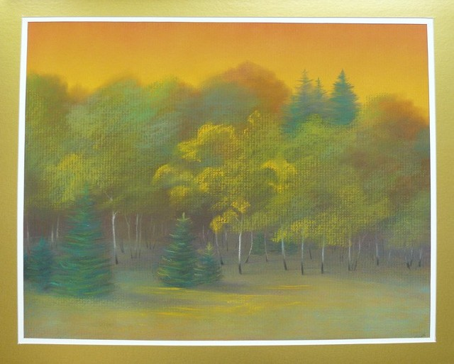 Forest Colors original painting by Gražina Luckutė-Bukienė. Pastel