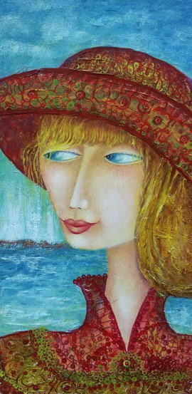 Vacation original painting by Danguolė Jokubaitienė. Oil painting