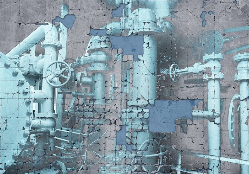 Cold Steam original painting by Loreta Abucaitė-Hornall. Other technique