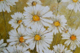 A Flock Of Daisies original painting by Danutė Virbickienė. Oil painting